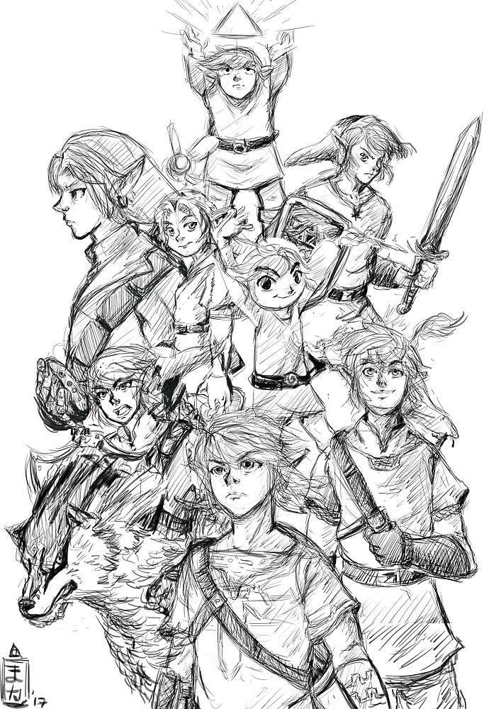 30th anniversary the legend of zelda by maka667
