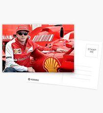 Kimi Raikkonen Ferrari F1 Driver Postcards