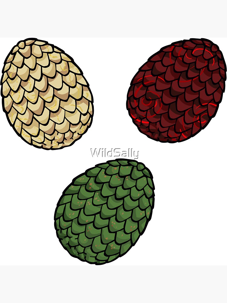 Game of Thrones dragon eggs by WildSally