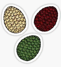 Game of Thrones dragon eggs Sticker