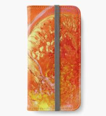 "Energiebild ""Engel in Orange"" - Du bist wertvoll! iPhone Flip-Case/Hülle/Skin"