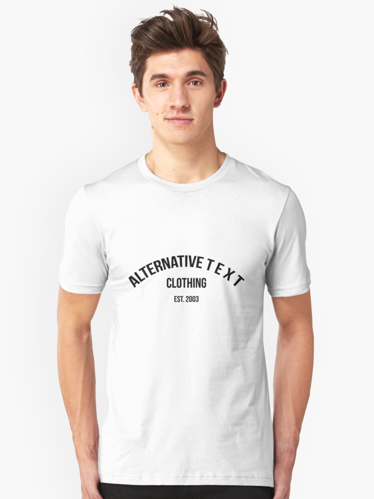 A T - UPPER ROUNDED   Alternative Text co. Unisex T-Shirt Front
