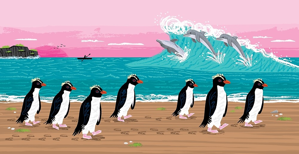 Penguins and Dolphins by Oliver Lake