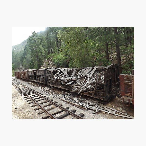 Dilapidated Rail Freight Car, Durango, Colorado Photographic Print