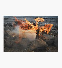 Clay People. Fire Photographic Print