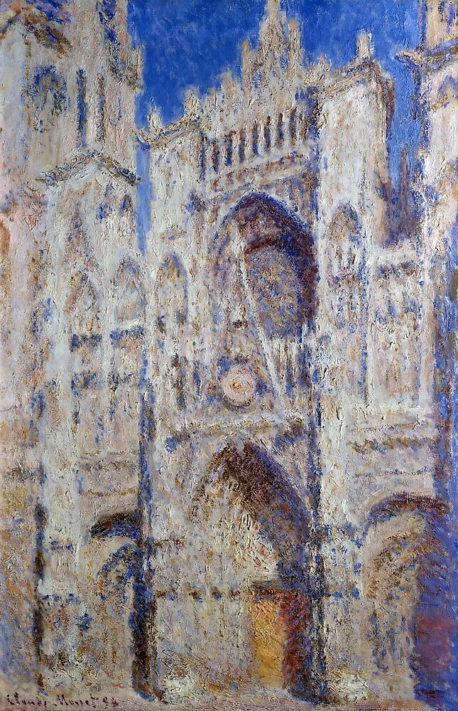 Claude Monet Rouen Cathedral The Portal by pdgraphics