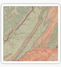 Geological Map of Northeastern Alabama - 1890 Sticker