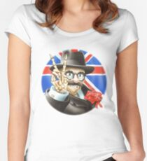Grateful dead poster Women's Fitted Scoop T-Shirt