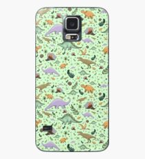 Dinosaurs in Green Case/Skin for Samsung Galaxy