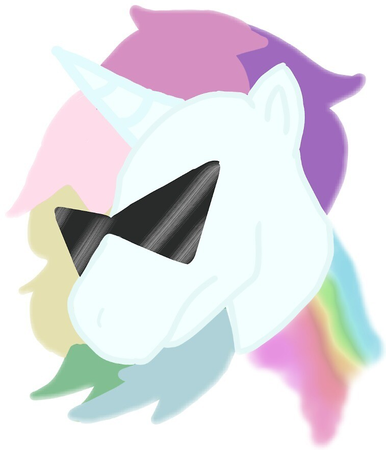 Badass Unicorn Sticker by Twenty1Fandoms