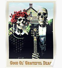 Grateful dead art poster skeletons painting Poster