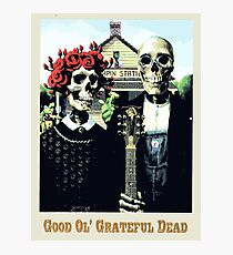Grateful dead art poster skeletons painting Photographic Print