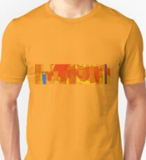 laundry air drying on rack graphic  T-Shirt