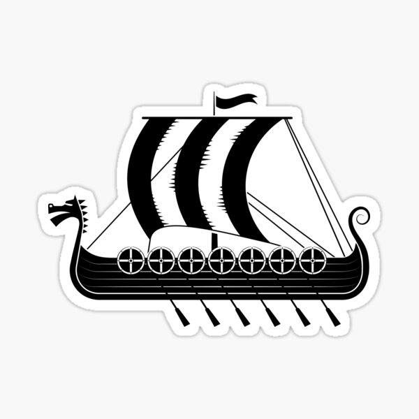 construit par les Vikings à l'époque viking. Les types de bateaux étaient assez variés Sticker