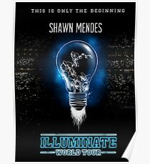 Illuminate world tour (light bulb) Poster