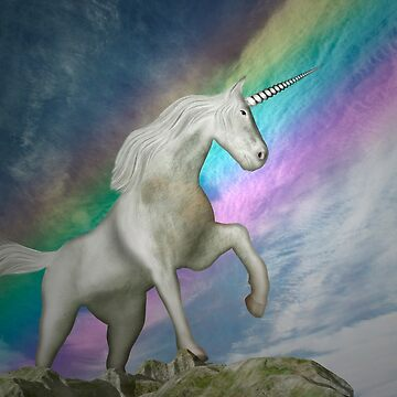 Unicorn with rainbow by fotokatt