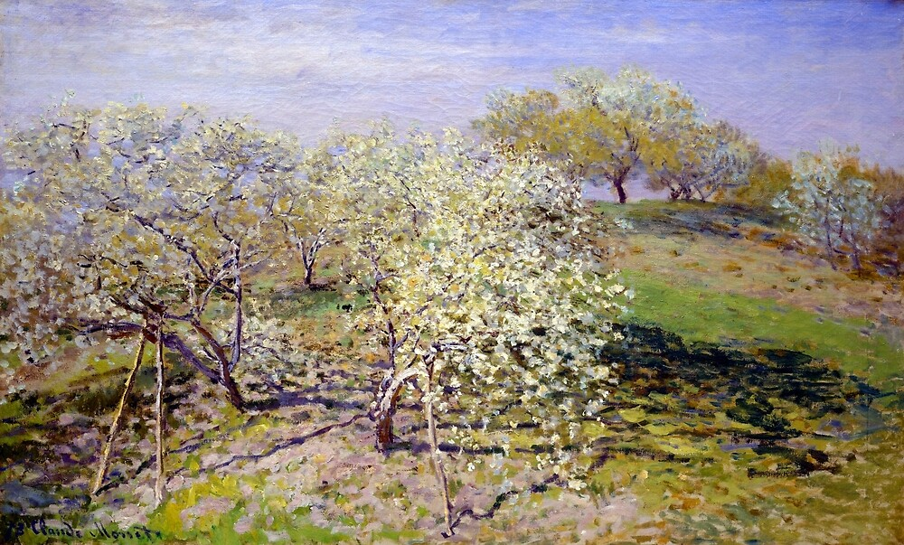 Claude Monet Spring (Fruit Trees in Bloom) by pdgraphics