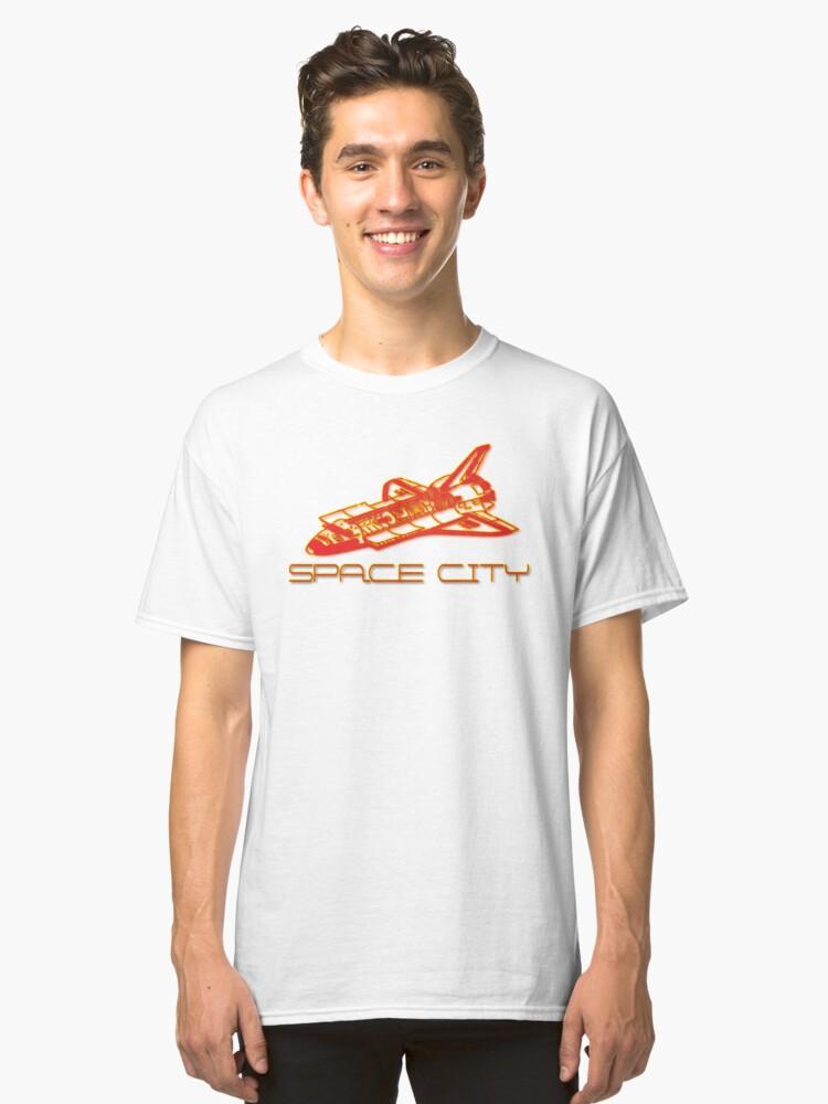 Houston Space City Shuttle  Classic T-Shirt Front