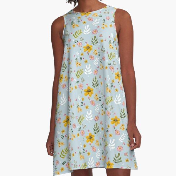 Meadowland Flowers A-Line Dress