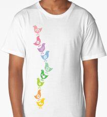 Balancing Retro Rainbow Chicks Long T-Shirt