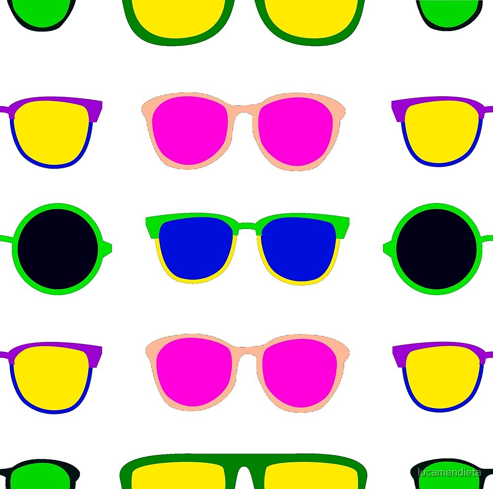 Glasses pattern by lucamendieta