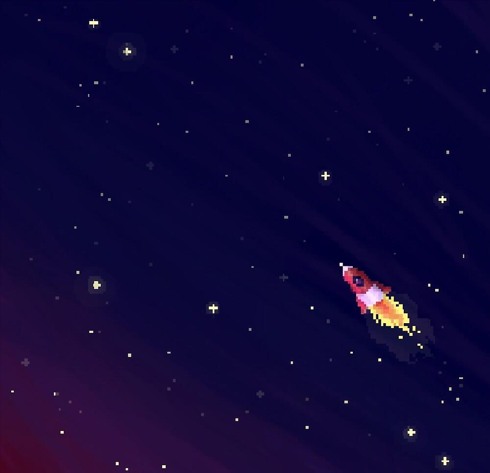 8-Bit Rocket by Eleni  Eleni