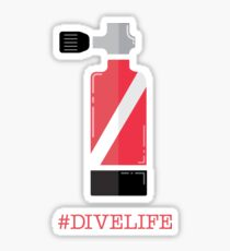 #divelife Sticker