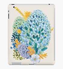 Contemporary Floral - Blue iPad Case/Skin