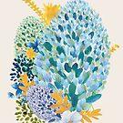 Contemporary Floral - Blue by Belinda Lindhardt