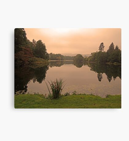 Peach Sky at Great Witley Canvas Print
