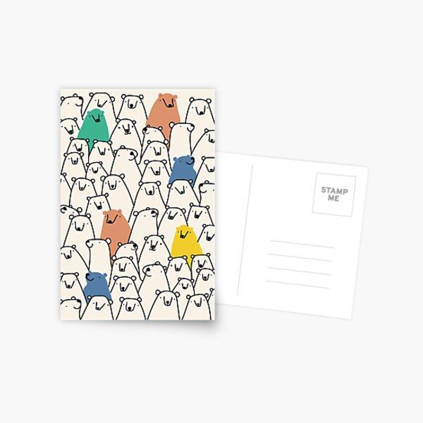 Bears pattern Postcard