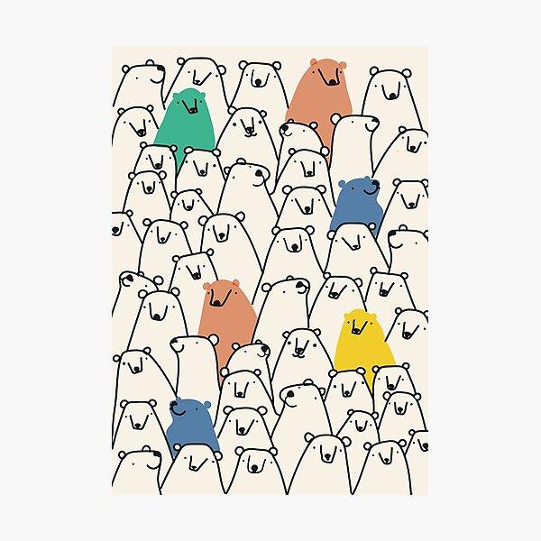 Bears pattern Photographic Print