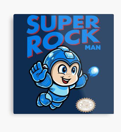 Super Rock Man Metal Print