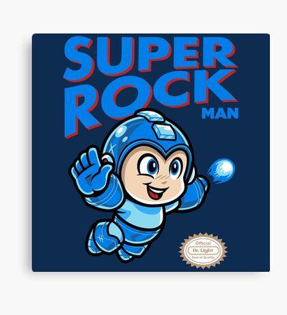 Super Rock Man Canvas Print