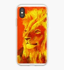 Krafttierbild Löwe - Totem Animal Lion iPhone-Hülle & Cover