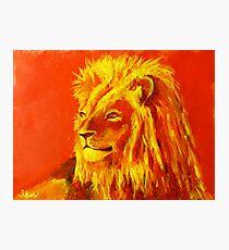 Krafttierbild Löwe - Totem Animal Lion Fotodruck