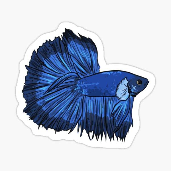Betta Blue Halfmoon Sticker