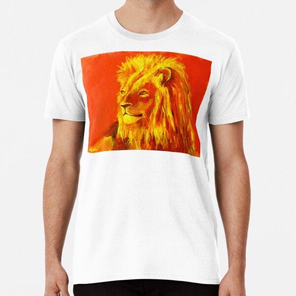 Krafttierbild Löwe - Totem Animal Lion Premium T-Shirt