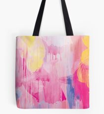 Pink Abstract Design Tote Bag