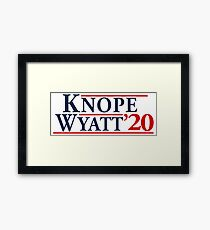 Leslie Knope for President! Framed Print