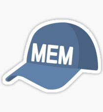 Memphis Baseball Cap Sticker