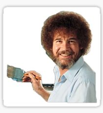 Bob Ross Painting Sticker
