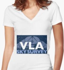 The New Very Large Array Sky Survey Logo for Light Colors Women's Fitted V-Neck T-Shirt