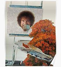 Bob Ross Meme Sticker Poster