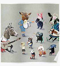 Animals into folk Poster
