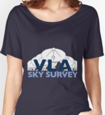 The New NRAO VLA Sky Survey Logo for Dark Colors Women's Relaxed Fit T-Shirt