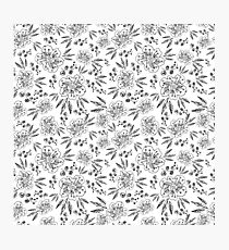 Hand drawn seamless vector pattern with flowers Photographic Print