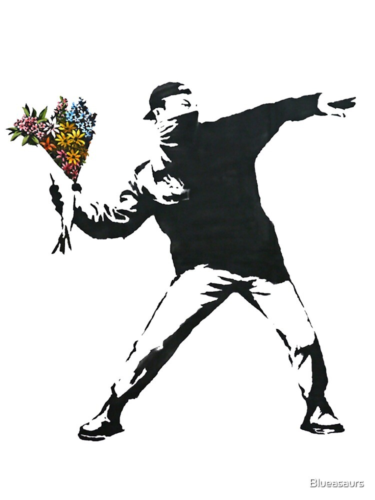 Banksy: Flower Grenade by Blueasaurs