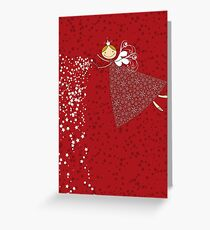 Whimsical Magical Snowflakes Fairy Greeting Card