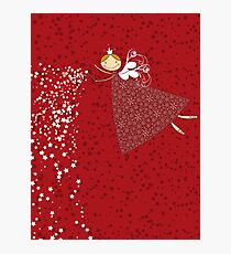 Whimsical Magical Snowflakes Fairy Photographic Print